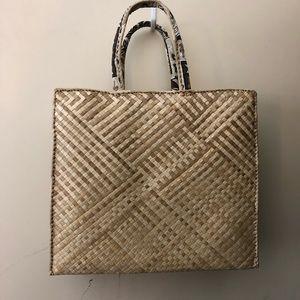 Handbags - Vintage Handmade Lauhala Large Tote